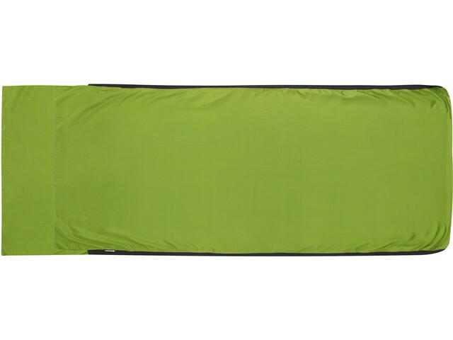 Sea to Summit Silk Stretch Betræk Traveller med pude, grøn